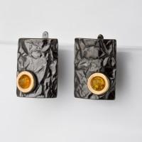 Серебряные серьги с янтарем ЯН72131056