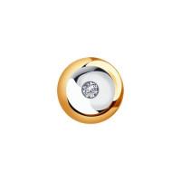 Золотая подвеска с бриллиантом ДИ1030717