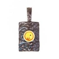 Серебряная подвеска с янтарем ЯН73131056