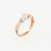 Золотое кольцо с фианитами СН01-115164
