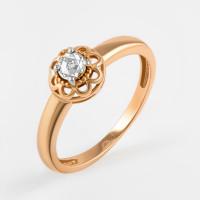Золотое кольцо с бриллиантом ЛХ01-01821-02-001-02-01