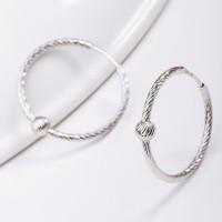 Серебряные серьги конго с шариками серебрами ДИ94140037