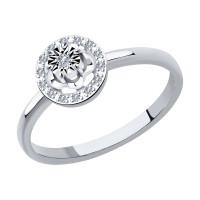 Золотое кольцо с бриллиантами ДИ1012039