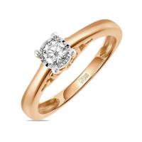 Золотое кольцо с бриллиантом ЛФР01-Д-ПЛ-33917