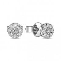 Золотые серьги гвоздики с бриллиантами ЛФЕ01-Д-УЕ01680-075