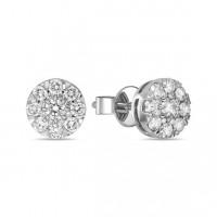 Золотые серьги гвоздики с бриллиантами ЛФЕ01-Д-УЕ01680-200