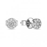 Золотые серьги гвоздики с бриллиантами ЛФЕ01-Д-УЕ01680-050