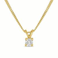 Золотое колье с бриллиантом ЛФН01-Д-СОЛ18-010-Г2