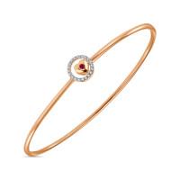 Золотой браслет с рубиным и бриллиантами ЛФВ01-Д-ГГ31002АРУ-Р17б