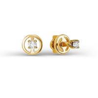 Золотые серьги гвоздики с бриллиантами ДПБР150665