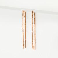 Золотые серьги протяжки с фианитами 3ВС132-1331