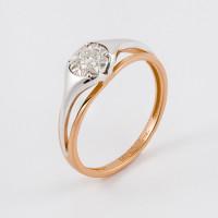 Золотое кольцо с бриллиантом ЮЗ1-11-1034-101
