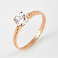 Золотое кольцо с фианитом ДИ018594