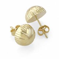 Золотые серьги гвоздики ЛД1101000122294