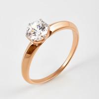 Золотое кольцо с фианитом ДИ018596