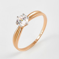 Золотое кольцо с фианитами ДИ018597