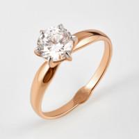Золотое кольцо с фианитом ДИ018598