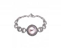 Серебряные часы с марказитами и сваровски
