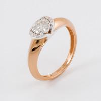 Золотое кольцо с бриллиантами ЮЗ1-11-1035-101