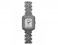 Серебряные часы с марказитами и сваровски М3ХВ064