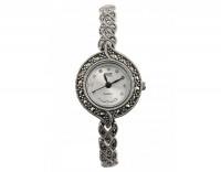 Серебряные часы с сваровски и марказитами М3ХВ028