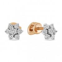 Золотые серьги гвоздики с бриллиантами ЛФЕ01-Д-Л-ПЛ-34418