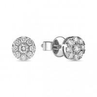 Золотые серьги гвоздики с бриллиантами ЛФЕ01-Д-УЕ01680-100