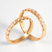 Золотое кольцо обручальное с фианитами 2БКЗ5К-01-0561-01