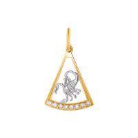 Золотой знак зодиака «скорпион» с фианитами ЯВ8410СК