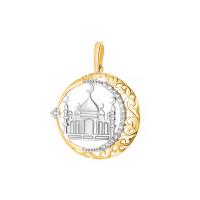 Золотая мечеть с фианитами ЯВ851066 подвеска для мусульман