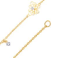 Золотой браслет с фианитами ЮИБр332-4716-Л2
