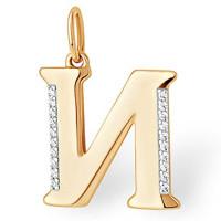 Золотая буква с фианитами ЮПП1328429