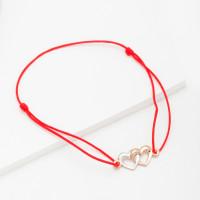 Золотой браслет красная нить ЮПБ13010527