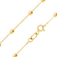 Золотое колье с шариками золотами ЖН910340727-02