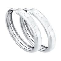 Серебряные серьги конго ДИ94140062