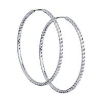 Серебряные серьги конго ДИ94140016