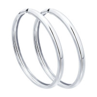 Серебряные серьги конго ДИ94140011