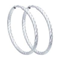 Серебряные серьги конго ДИ94140020
