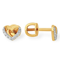 Золотые серьги гвоздики с фианитами ЮПС1329230