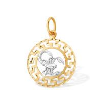 Золотой знак зодиака «скорпион» с фианитами ЮПП1427110