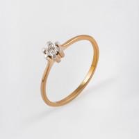 Золотое кольцо с бриллиантом ЫЗ5-2318-103И2-1К