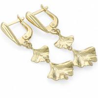 Золотые серьги подвесные