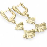 Золотые серьги подвесные ЛД1001000123054