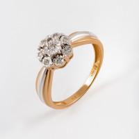 Золотое кольцо с бриллиантами ЫЗ5-2181-103И1-1К