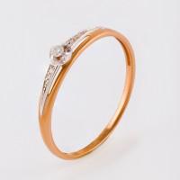 Золотое кольцо с бриллиантами ЫЗ5-3091-103-1К