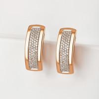 Золотые серьги с бриллиантами ЫЗ5-2547-103-2К