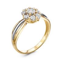 Золотое кольцо с бриллиантами ЫЗ5-2181-103И1-1Ж