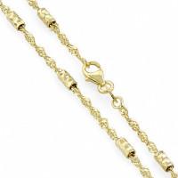 Золотая цепочка ЛД4101000124142 плетение Сингапур