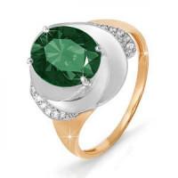 Золотое кольцо с кварцем и фианитами ДП311038