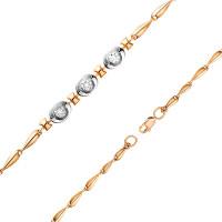 Золотой браслет с бриллиантами ЮИБР112-4954-17